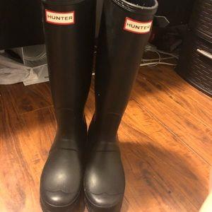 Hunter long rain boots